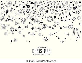 白, 要素, クリスマス, 背景, 構成