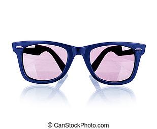 白, 隔離された, 背景, sunglasses.
