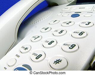 白, 電話