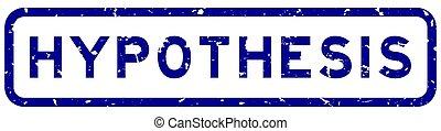 白, 青い正方形, シール, グランジ, 切手, hypothesis, 背景, ゴム, 単語