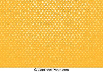 白, 黄色の背景, 点