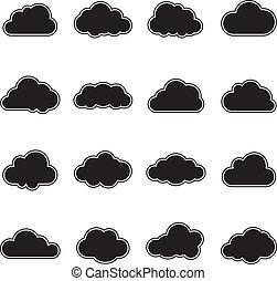 白, 黒い雲