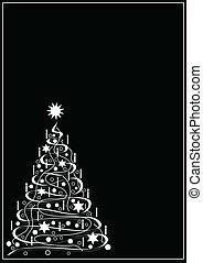 白, 黒, クリスマス