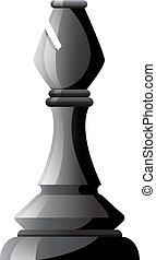 白, 黒, チェス, 司教