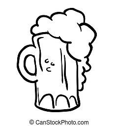 白, 黒, ビール