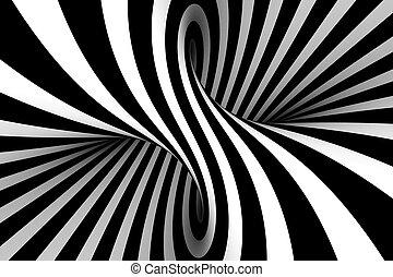 白, 黒, 抽象的