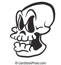 白, 黒, 頭骨