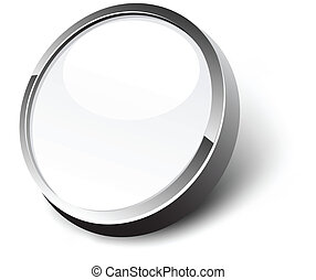 白, button.