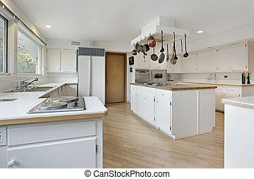 白, cabinetry, 台所