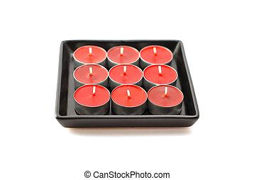 白, candles..on, 背景