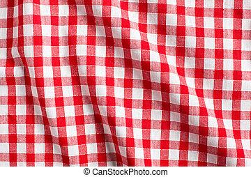 白, checkered, 赤い背景
