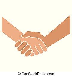 白, handshake., 背景, アイコン