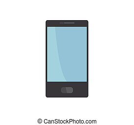 白, smartphone, 背景, アイコン