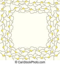 百合花, 白色, 山谷, 邊框