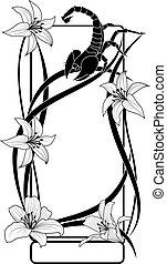 百合花, 蠍子, 框架