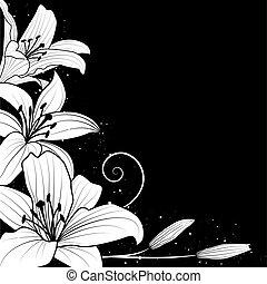 百合花, 黑色