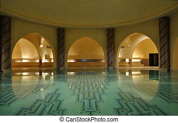 的内部, a, 传统, hammam, 在中, 摩洛哥, 非洲