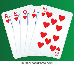 皇家的奔流, 扑克牌, 卡片