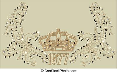 皇家的王冠, 由于, 紙卷