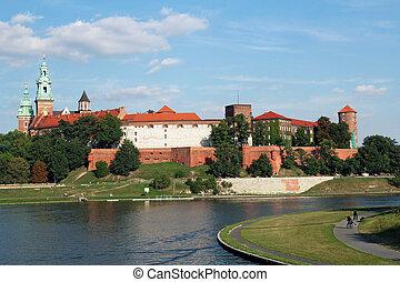 皇族, ポーランド, krakow, wawel, 城