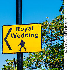 皇族, 印, 通り, 結婚式, の間, 祝福