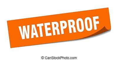 皮むき器, 印。, 防水, sticker., 広場, waterproof.