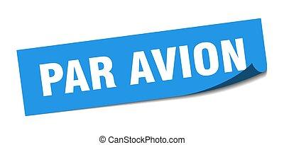 皮むき器, avion, パー, 印。, avion., sticker., 広場