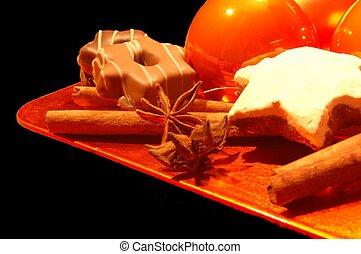 皿, クリスマス, すてきである