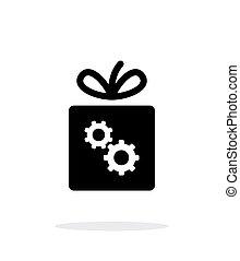 盒子, 背景。, 白色, 齿轮, 图标