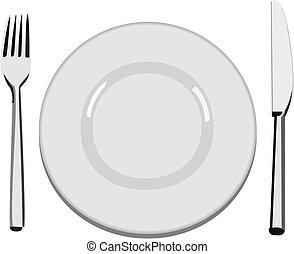 盘子, 晚餐