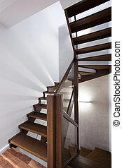 盘旋, 木制, 楼梯