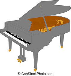盛大, piano.