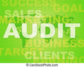 監査, 概念, 財政, アイコン, 税, 取得, -, イラスト, 財政, 管理, 株, ショー, ∥あるいは∥, 3d