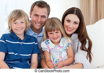 監視, 家族, 微笑, tv