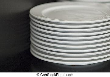 盤子, 堆