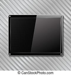 盤子, 有條紋, 金屬, 背景, 黑色