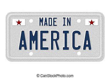 盤子, 美國, 做, 執照
