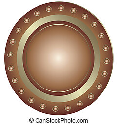 盤子, 青銅, (vector)
