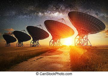 盤, 衛星 看法, 夜晚