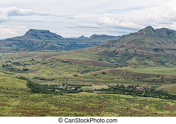 目に見える, ハイキング, bonjaneni, township, 光景, trail., mudslide