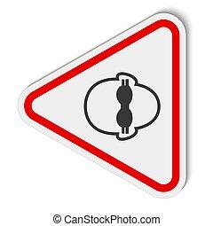 目ウエア, 背景, 保護, 白, イラスト, 印, 隔離しなさい, 不透明, シンボル, eps.10