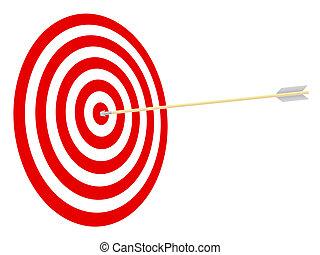 目標, 以及, arrow.