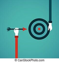 目標, 成就, 摘要, 矢量, 概念, 在, 套間, 風格