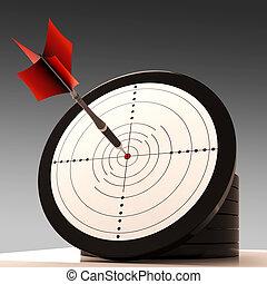目標, 目標, 顯示, 優秀, 以及, 成就