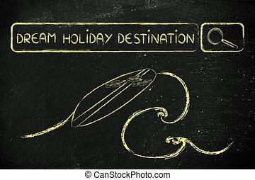 目的地, 休日, 夢, 探索, オンラインで