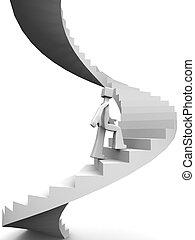 目的地, 到, 成功, ......的, 生活, 概念