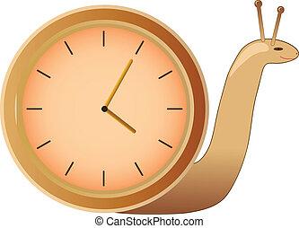 目覚まし時計, ベクトル, かたつむり