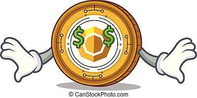 目, お金, komodo, コイン, 漫画, マスコット