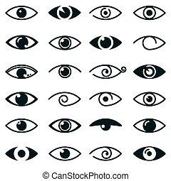 目, シンボル, コレクション, アイコン