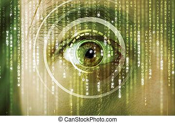 目, ターゲット, 現代, cyber, 兵士, マトリックス